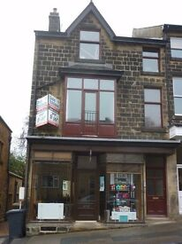 Unfinished first floor very spacious 2 bed room apartment, town centre of ILKLEY