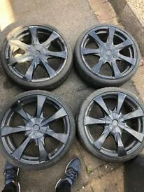 "18"" alloy wheels universal lens 5stub"