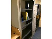 Steel Tambour Storage Unit Grey