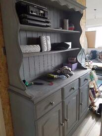 Wood dresser painted grey
