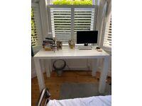 Large, tall white desk