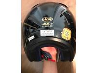 Black Arai helmet