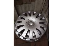 "vw golf mk5 16"" wheel trims, used, marks,"