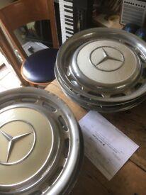 Mercedes vintage hubcaps