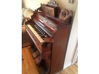 Antique Victorian harmonium
