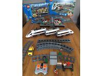 Lego City High Speed Passenger Train 60051 & Train Station 60050, Mint Condition