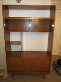Lounge Storage Unit / bookcase retro 1970's style