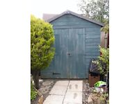 7 x 7 Garden Shed with lock | Must go before end of August | Buyer to dismantle