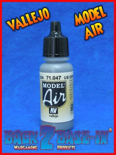 Vallejo Model Air Acrylic Paint 17ml Bottle US Grey 71047