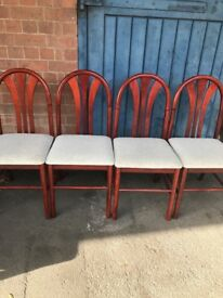 Set of Four Mahogany Balloon Back Dining Chairs.