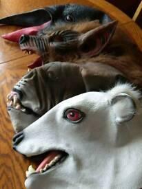 Animal rubber masks