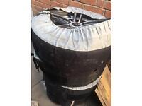 """17"""" VW Golf alloy wheels +Bridgestone winter tyres AUDI A3 A4 Passat 5x112 CAN POST"""