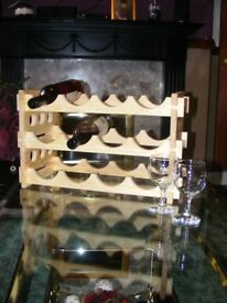 BRAND NEW HANDMADE WOODEN WINE RACK UNVARNISHED