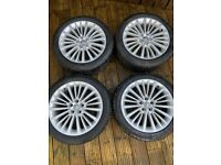"""Vauxhall Astra Elite Genuine 17"""" Alloy Wheels & Tyres in very good condition"""