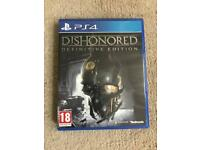 Dishonered definitive edition ps4 ( PlayStation 4 games )