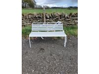 Home Metal 2 Seater Garden Bench - Grey A-