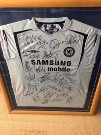 Signed and framed Chelsea Memorabilia