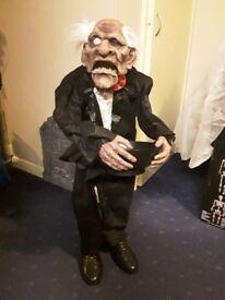 3 foot animated butler Halloween prop
