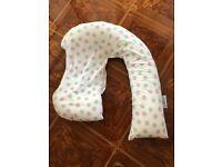 Dream genii green, grey and white feeding / pregnancy pillow