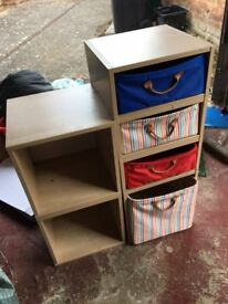 Childrens draws and shelves