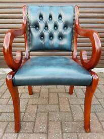Chesterfield genuine leather chair EXCELLENT CONDITION! BARGAIN!