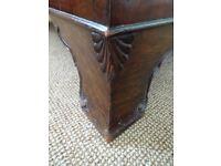Original art deco burr walnut veneer chest of drawers