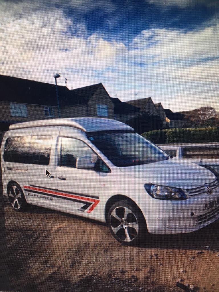 VW 16 Caddy Maxi Pop Top Camper Van
