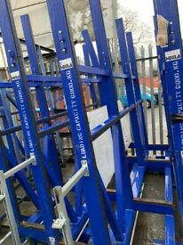 comercial heavy duty glass storage racks