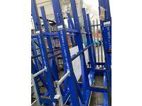 comercial heavy duty glass storage racks