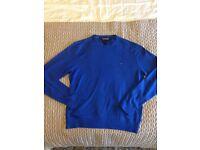 Tommy Hilfiger Mens Round Neck Jumper Colour: Blue Size XL
