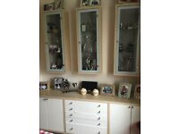 Display cabinets and sideboard
