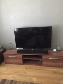 TV unit walnut 180cm, one month old