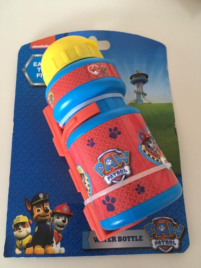 Kids Cycling clip on water bottles paw patrol shopkins