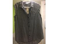 Checkered top size 12