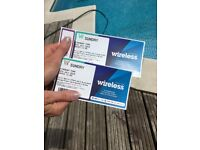 2 x Wireless Sunday 8th July Tickets