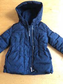 Jacadi jacket/coat navy blue size 6 years old