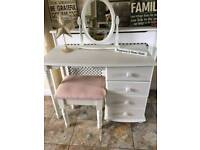 Dressing table,mirror and stool