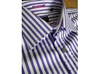 Quality Paul Smith Double Cuff Striped Shirt 15.5 (39) Excellent condition! Slim Fit