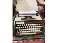 Portable Brother Deluxe 1350 Typewriter 1970s
