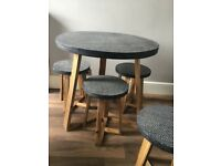 Next dining table & stools concrete tops
