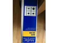 Moffat White Gas Hob - brand new boxed