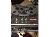 Revox B77 with 4 Tapes in flight case with fitted XLR connections
