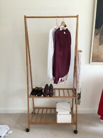 Clothes Hanging Rail - Bamboo