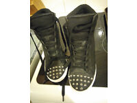 Kurt Geiger ladies high tops/boots with wedged heel, UK size 7 to 7.5, black