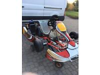 Rotax go kart, box trailer and spares
