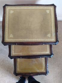 Nest of Queen Anne style coffee tables