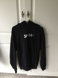 Men's SHHHH hoodie in black- size medium.