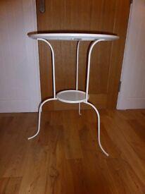 STYLISH WHITE SIDE TABLE