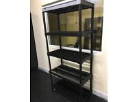 Large Black Plastic Racking home or Office