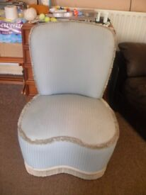 Vintage style bedroom chair
